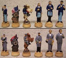 Chess Set Pieces American History Civil War Lincoln & Grant vs Davis & Lee NIB