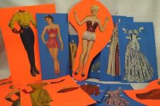 lot vintage old Paper Dolls clothing outfits dress Betty Grable Movie Star Girl