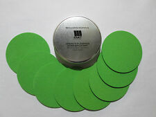 VFG Set of 8 Coasters in VFG metal Can Light GREEN