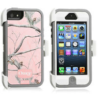 OtterBox Defender Case & Holster for Apple iPhone 5 RealTree AP Pink Camo OEM US