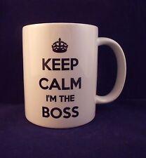 Keep Calm I'm The Boss Novelty - Coffee Mug - Cup - Gift - Xmas