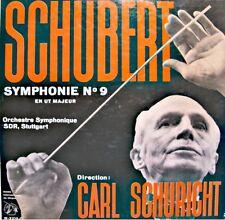 ++CARL SCHURICHT/SDR STUTTGART symphonie 9 SCHUBERT LP GUILDE DISQUE VG++