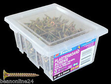 500 Pack Gyprock / Plasterboard Screws 6-18 x 30mm for Timber or Thin Metal