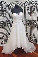 57)  EDEN GOLD LABEL GL052 HI LO  SZ 12  $1115 FORMAL WEDDING GOWN DRESS