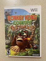 Donkey Kong Country Returns Nintendo Wii w/ Manual