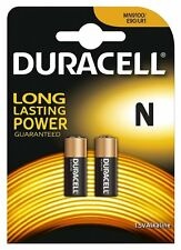 Duracell MN9100N Battery Alkaline for Camera Calculator etc: 1.5V Size N (Pack 2