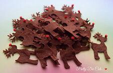 Felt Reindeer. Pack of 10 Christmas Craft Embellishments