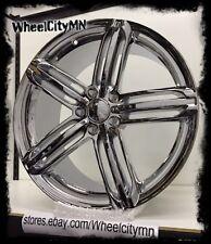 18 x8 inch chrome Audi S5 OE factory replica wheels rims 57.1 mm hub bore 5x112
