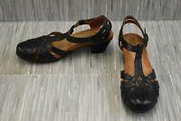 Rockport Cobb Hill Aubrey T-Strap CBD12BK Sandal, Women's Size 7.5N, Black