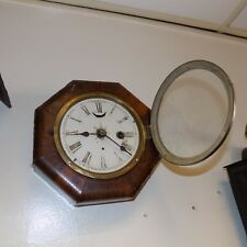 Octagonal single train movement wall clock