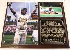 Rickey Henderson #24 Stolen Bases Record Oakland Athletics Photo Plaque