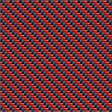 Tissu CARBONE-KEVLAR ROUGE 200g/m². Pour stratification avec les résines époxy.