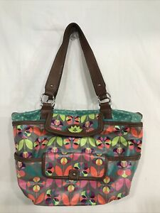 Women's Floral Multi-Color Lily Bloom Tote Purse