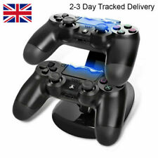 PlayStation 4 PS4 Controller LED Charging Stand Station Dual USB Fast Charger UK