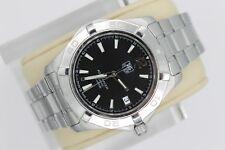 Tag Heuer Black Aquaracer Watch Mens WAF2110.BA0806 $2500 AUTOMATIC 300M BOX