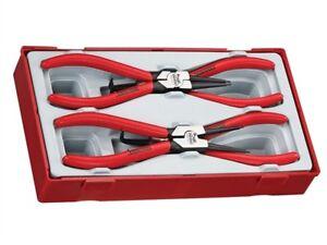"""Teng Tools 7"""" Circlip Pliers Tool Set Straight Bent Internal & External"""