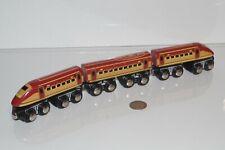 Toys R' Us Wooden 3-Piece Bullet Train - works w/ Thomas & Friends Railway, BRIO