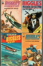 Biggles paperback books by Capt W.E. Johns Foreign Legionnaire, Blue, Pioneer