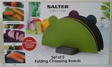 Salter Set of 3 Foldable Flexible Stylish Colour Round Chopping Cutting Boards