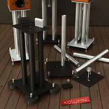 New listing Takt Column Silver High End Audio BookShelf Speaker Stand Set of 2