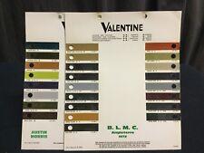 Rare Lot Nuancier Colori VALENTINE 1972-74 BLMC AUSTIN MORRIS STANDARD TRIUMPH