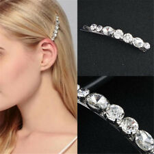 Crystal Diamante Barrette Bobby Pins Hair Clips Slides Grip Wedding Headdress