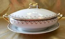 Antique Limoges Bernardaud & Co Vegetable Bowl & Serving Platter Gold Gilt