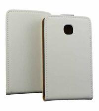 Premium Flip Case Tasche für LG E430 Optimus L3 II in weiß Etui Hülle Schutzcase