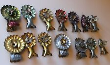 14 Antique Metal Christmas Tree Candle Clip-ons Germany