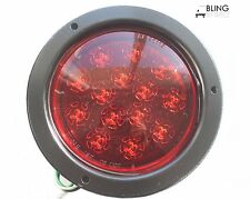 1 LED FLUSH-MOUNT STOP TURN TAIL LIGHT ROUND RED FOR TRUCK TRAILER USE 14 DIODE