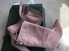 Clarks Pink Suede Boots size 7 With Original Box