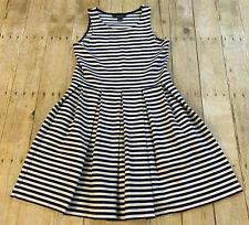 Polo Ralph Lauren Sleeveless Tank Top Skirt Dress Girls XL 16 Cotton Pleated