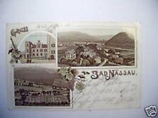 AK Bad Nassau 1903 Lith. Ansicht Kurhaus Schloß Wein