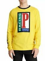 Men's Polo Ralph Lauren Yellow Racing 1992 Long Sleeve T Shirt Size Large NEW
