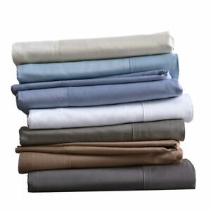 Silky Soft Pillowcases Set of 2 Bamboo Cotton Blend Solid Standard - King