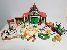 Playmobil Ferme tracteur faucheuse remorque animaux personnages accessoires -31
