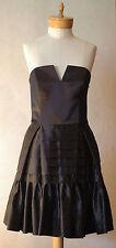 Betsey Johnson  Black Strapless Evening Cocktail Dress Size 10