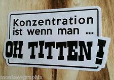 "OEM - JMD Drift Hoonigan Oldschool Sticker "" ... Oh Titten ""  Aufkleber /"