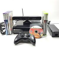 Microsoft Xbox 360 Console Kinect, 6 Games Bundle Preowned Tested