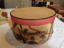 "New listing Vintage Eugene Scherman Hat Box New York 12""w x 6 1/2 deep"