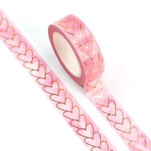 1 x Valentine Washi Tape Planner Scrapbooking Masking wrapping Pink Love