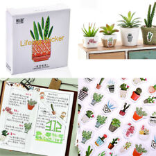 45pcs/pack Pot Cultured Green Plants Label Stickers DIY Diary Album Stick Label