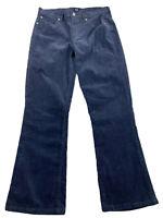 Gap Women 29 Corduroy Pants Jeans Perfect Boot Slacks Blue Cords Stretch Bootcut