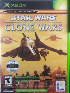 Star Wars The Clone Wars + Tetris Worlds Microsoft Xbox Original Game