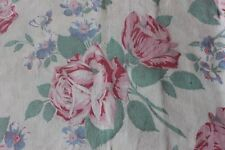 Genuine Vintage American Cotton Feedsack Fabric Pillow Cover~Pink Roses