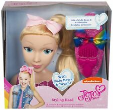 JoJo Bows JoJo Siwa Styling Head Set with Pink and Rainbow Bows and Brush - L...