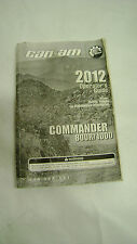 2012 BRP Can-Am ATV Four / 4 Wheeler Owners Operators Manual Guide Book #U1413