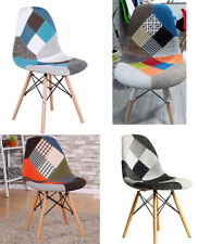 4 × Designer scandinavian patchwork chair Retro Eames Chair Set of modern chairs