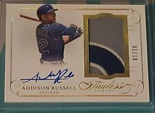 ADDISON RUSSELL 2016 FLAWLESS 3 COLOR PATCH AUTOGRAPH #/10 GOLD