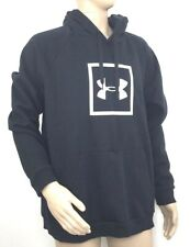 Under Armour Mens Rival Fleece Logo Hoodie Size 2XL Black Pullover NEW
